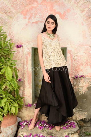 Black-Pallazo-with-Gold-Embroidered-Top