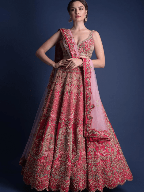rani-pink-lehenga-choli-with-hand-embroidered-moroccan-motifs-online-kalki-fashion-m001nm04y-sg23304_4_