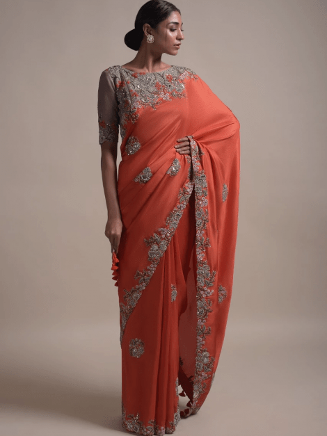 vermillion-orange-saree-in-silk-blend-with-thread-and-zardozi-embroidery-in-floral-pattern-online-kalki-fashion-k025sbrbhsy-sg34665_4_